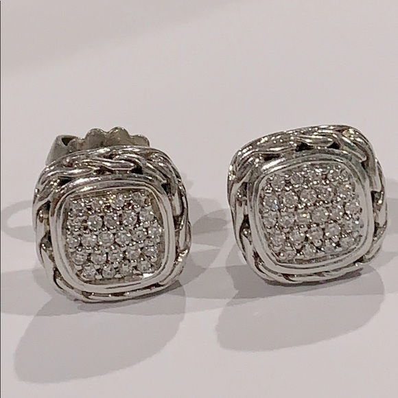 John Hardy925 Diamonds Chain Stud Earring